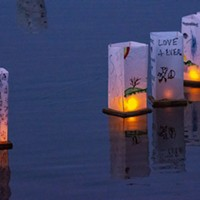 Messages of no-nukes, personal remembrances of loved ones, song lyrics, poetry and art work adorned the floating lanterns.