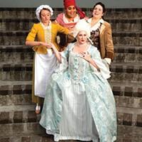 Clockwise: Holly Portman, Lakia Solomon, Alexandra Blouin and Kaitlyn Samuel Rosin in The Revolutionists.