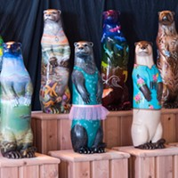 The otter sculptures are ready to be placed in shops, restaurants and other venues when it's safe to do so.