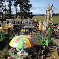 The view from the Ferris wheel at the Humboldt County Fair.