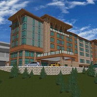 An artist's rendering of the hotel development.