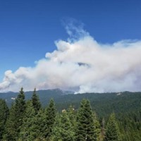 The Elkhorn Fire from the Mad River Ranger Station.