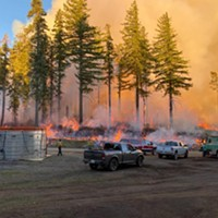Crews fight the Red Salmon Complex Fire.