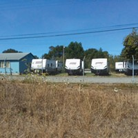 Four months after their arrival, Arcata's seven FEMA trailers meant to shelter the homeless remain empty.