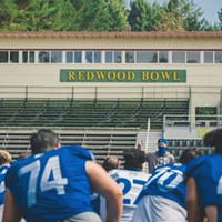The San Jose State University Spartans hold their first practice in Humboldt State University's Redwood Bowl.