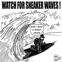Watch for Sneaker Waves!