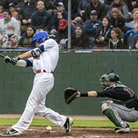 A swing from opening day of the 2019 season.