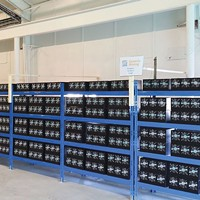 "A node in the Bitcoin network is usually a ""mining farm,"" like this one (in Iceland, taking advantage of cheap geothermal and hydro power), in which thousands of ASIC (application-specific integrated circuit) computers compete in a worldwide lottery to find the winning Bitcoin ""hash."""