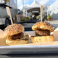 Lamb sliders from The Nosh at Septentrio Winery.