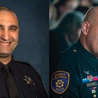 Eureka Police Department officer Mark Meftah (left) and Sgt. Rodrigo Reyna-Sanchez.