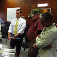 State Sen. Mike McGuire, Rio Dell council members Frank Wilson and Debra Garnees Drought Resiliency Project Briefing in 2015.