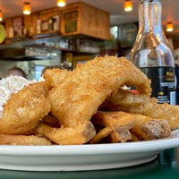 Gallagher's fish and chips in its new location on Fourth Street.