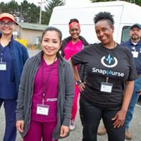 Humboldt County's SnapNurse team (left to right) Gisselle Lujan, Isobel Roa, Sharmain Kevianne, Katrina Tucker, and Robert Salazar.