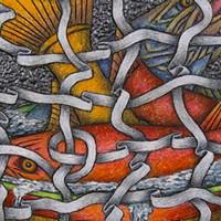 """Louis Marak's """"Fish Net Bowl"""" at the Morris Graves Museum of Art."""