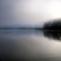 The bubble of fog on Big Lagoon offers the perfect balm for all of life's raised voices.
