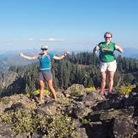 Sweet victory atop the Salmon Mountan Summit.