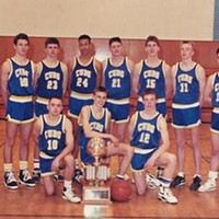 Gene Cotter (back row, second from right) playing for South Fork High School in 1991.
