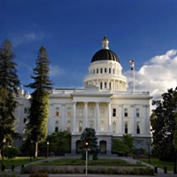 The state Capitol building.