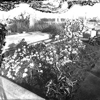 A decorated grave at Myrtle Grove Memorial Cemetery, circa 1900.