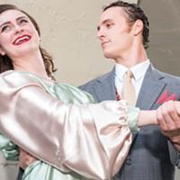 Anna Duchi and Gino Bloomberg imitate life imitating art in Kiss Me, Kate. Courtesy of Humboldt State University.