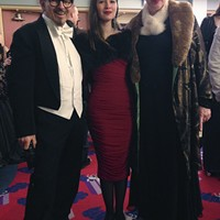 Peter, Hazel and Shirley Santino bring vintage glamour to the vintage lobby of the Eureka Theater.