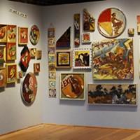 Salon style arrangement of Otto's Oregon retrospective.
