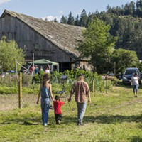 Visitors enjoyed the trail through pasture and marshland,  music, art and food at the grand opening of the Freshwater Farms Reserve nature trail on Sunday, May 1.