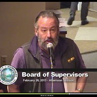 Screenshot of Lee Ulansey addressing the Board of Supervisors at a past meeting.