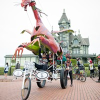 The majestic Kinetic Kootie rides again with the Carson Mansion as backdrop.