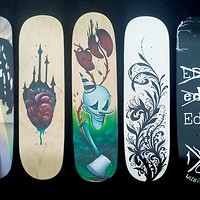 Skate decks on sale for a good cause at Arts Alive!