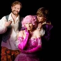 Calder Johnson as Cliton, Tracy Dorgan as Clarice and Bo Banducci as Dorante.