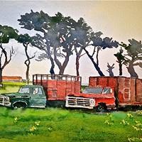 """The Venerable Trucks on Ocean Ave., McKinleyville"""