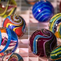 Artist Geoffrey Beetem's marbles were among the scores of glass creations on display at the Humboldt Marble Weekend.