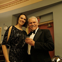 Danielle Tellez and her father Tom Tellez, president of the Eureka Theater board went full Hollywood glamour.