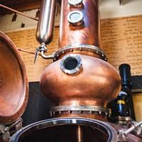 The hybrid potstill at Alchemy distillery.