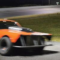 Doing laps at Redwood Acres Raceway.