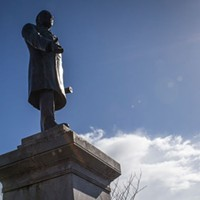 McKinley statue on the Arcata Plaza.
