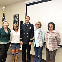 Sean Robertson, center, is the new chief of Humboldt Bay Fire.