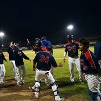 Crabs celebrate Tuesday's walk-off victory - MATT FILAR