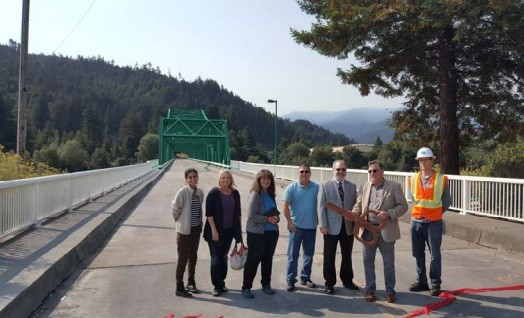 The Eagle Prairie Bridge reopened this morning. - CITY OF RIO DELL