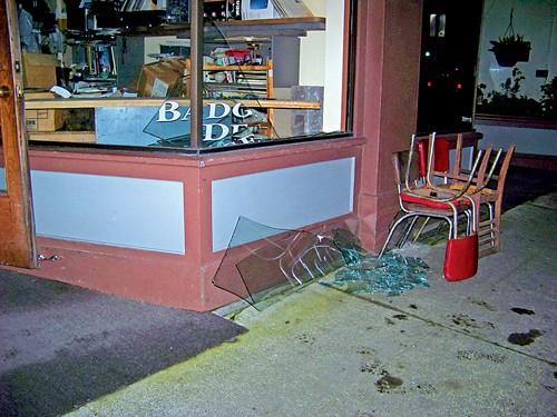 Earthquake damage in Old Town, Eureka - FILE