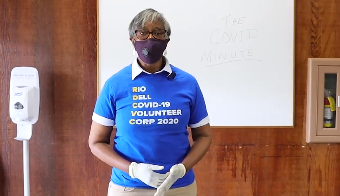 Rio Dell Mayor Debra Garnes talks about the Rio Dell COVID-19 Volunteer Corp on the HumCo COVID Facebook page. - SCREENSHOT