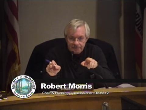 "Planning Commission Chair Robert Morris is ""outraged"" at the county planning staff's draft ordinance."