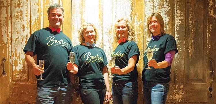Besties Timothy Rex, Jennifer Metz, Rebecca Rex and Tammy Rex of The Inn at Second & C, winner of Best Hotel. - PHOTO BY MARK MCKENNA