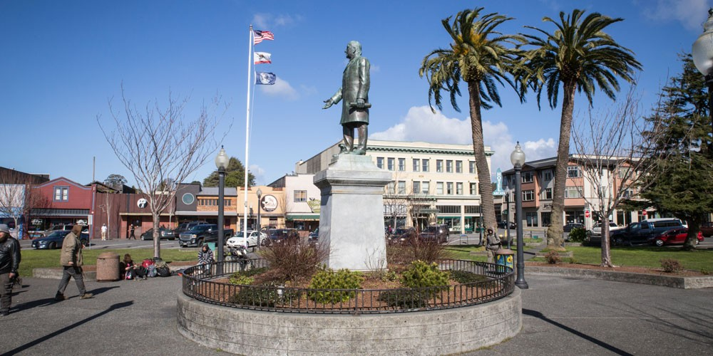 The city is slated to release more information about the next steps in the McKinley statue's removal on March 30. - PHOTO BY SAM ARMANINO