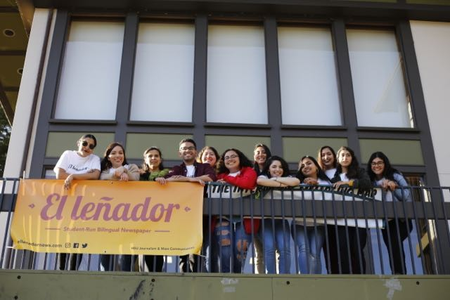 This semester's El Leñador crew. - PHOTO BY SAM ARMANINO