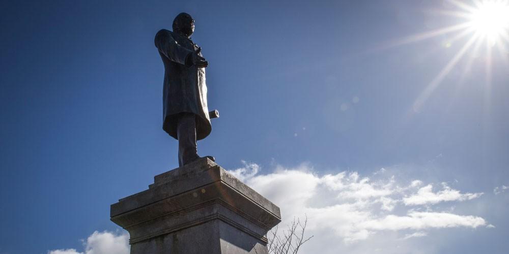 McKinley statue on the Arcata Plaza. - PHOTO BY SAM ARMANINO