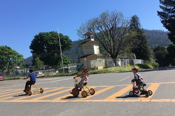 Children crossing the road in downtown Petrolia. - GOFUNDME