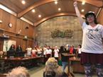 Protestors disrupt Wednesday's Arcata City Council meeting.