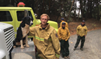 Humboldt County's Strike Team sent us this photo of Miranda Firefighter David Felt with a dog that adopted the crew yesterday.